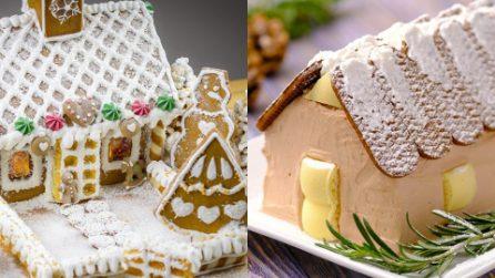 Vuoi stupire i tuoi ospiti con un dessert a tema natalizio? Queste casette fanno al caso tuo!