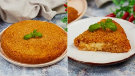 Tomato rice cake in a pan: super delicious and easy to make!