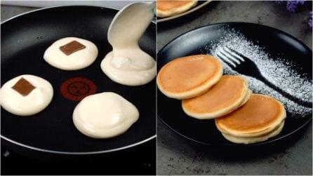 Pancakes ripieni: l'idea golosa per sorprendere tutti a colazione!