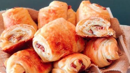 Merendine sfogliate al cioccolato: la ricetta veloce e piena di gusto