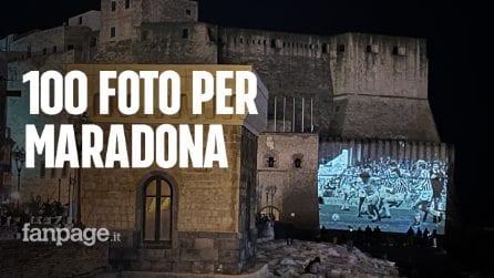 """Cento foto su Maradona su Castel dell'Ovo del fotografo Sergio Siani: """"È sempre un'emozione"""""""
