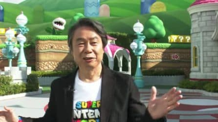 Shigeru Miyamoto, l'ideatore di Super Mario, ci guida all'interno del Super Nintendo World