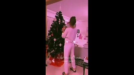 Elisabetta Gregoraci fa l'albero di Natale insieme al figlio Nathan Falco