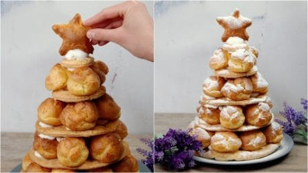 Cream puffs tree: the perfect dessert for Christmas!