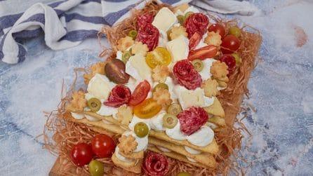 Cream tart salata a forma di Albero di Natale: l'antipasto sfizioso che lascerà tutti senza parole!