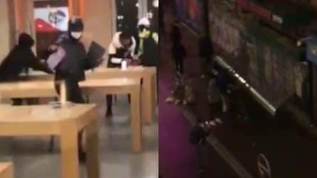 Parigi, alcuni negozi presi d'assalto dai gilet gialli