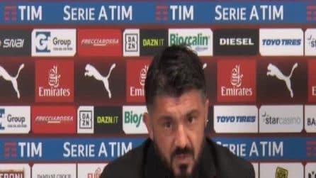 """Gattuso: """"Contento della squadra, sicuramente qualche singolo non ha giocato bene"""""""