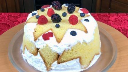 Torta pandoro super golosa: il modo alternativo per servirlo
