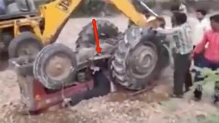 Attimi di terrore, viene schiacciato dal trattore: ciò che succede ha dell'incredibile