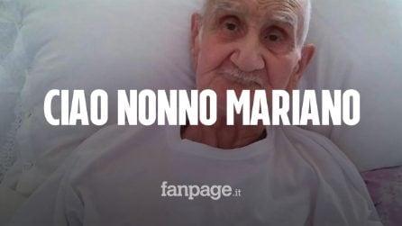 Morto Nonno Mariano, il 90enne sfrattato con la forza dalla sua casa