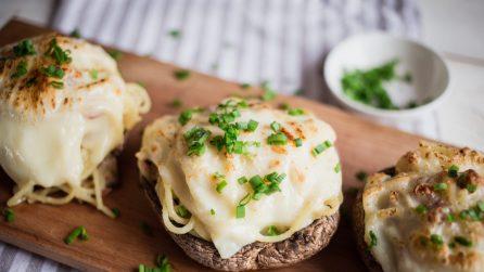 Spaghetti con panna e funghi: serviti in questo modo sono ancora più buoni!