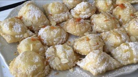 Ravioli dolci con ricotta e mandorle: un sapore davvero unico