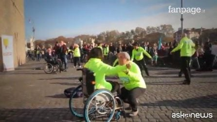 Roma, flash mob per le persone con disabilità
