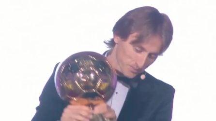 Pallone d'Oro, niente più urlo di Cristiano Ronaldo: l'emozione di Luka Modric