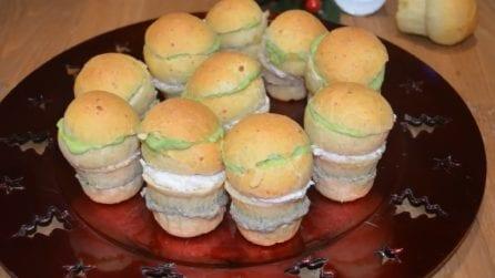 Mini panettoni salati e farciti: l'antipasto natalizio per eccellenza