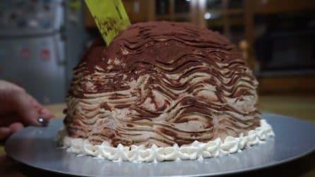 Zuccotto al cioccolato con il pandoro: ogni fetta ti conquisterà