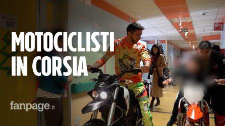 """Motociclisti in ospedale, il regalo di Natale per i bimbi di Milano: """"Così non pensano a malattia"""""""