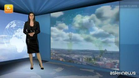 Previsioni meteo per sabato, 8 dicembre