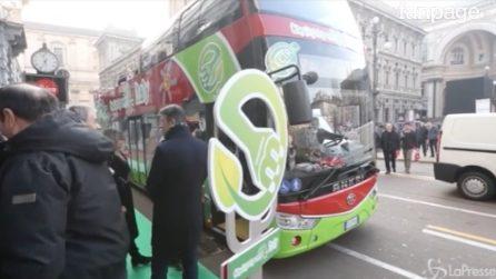 Milano, novità tra le strade del centro: arriva il primo bus elettrico City Sightseeing in Italia