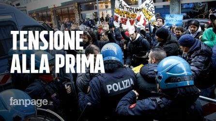 Milano, tensione tra polizia e manifestanti alla prima del Teatro alla Scala