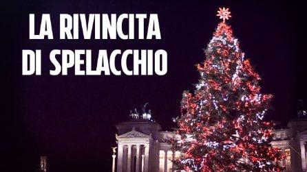 """A Roma si illumina il nuovo Spelacchio 'parlante': """"È bello essere a casa"""""""