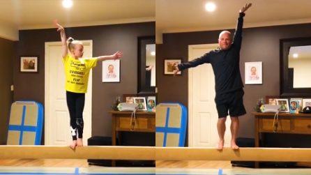 Balla con la figlia per aiutarla a coronare il suo sogno. L'amore di questo papà è un esempio
