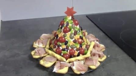 Albero di Natale al formaggio: un antipasto natalizio molto sfizioso