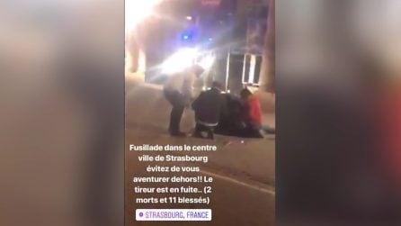 Strasburgo, i passanti soccorrono le vittime in strada