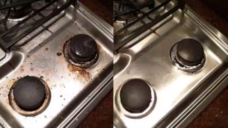 Piano cottura incrostato: il metodo perfetto per pulirlo