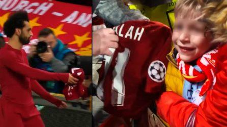Liverpool-Napoli, bambino piange di gioia: il bellissimo gesto di Salah