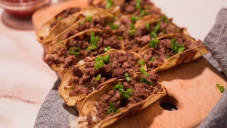 Potato tacos: crispy and yummy!