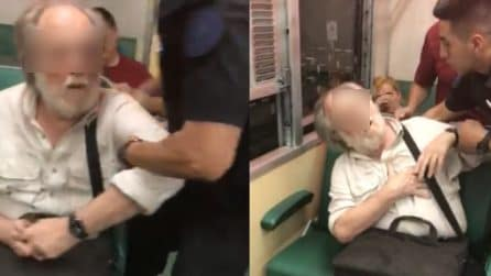 Scatta foto a una bambina sul treno: finge un infarto quando viene scoperto