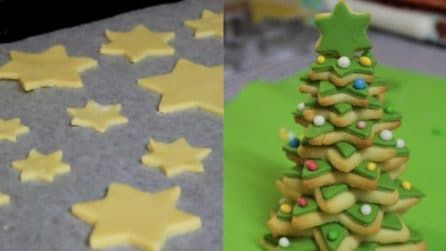 Albero di Natale di pasta frolla: buonissimo e fragrante