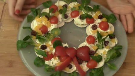 Ghirlanda salata: l'antipasto natalizio che sorprenderà tutti