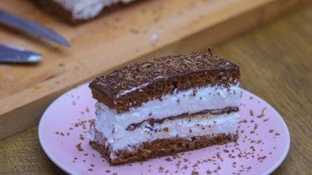 Torta panna e cioccolato: il dolce che piacerà a tutti!