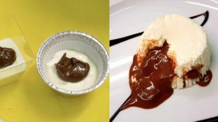 Mousse alle pere con cuore al cioccolato: un'esplosione di gusto
