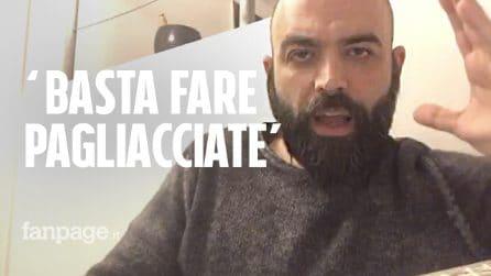 """Saviano a Salvini: """"Smettila di fare il pagliaccio, accogli i migranti di Sea Watch e Sea Eye"""""""