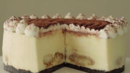 Cheesecake al tiramisù: una bontà unica e senza cottura