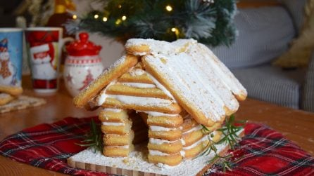 Ladyfingers house: the perfect Christmas idea!