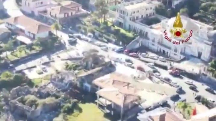 Terremoto Catania, le immagini dall'alto delle aree ...