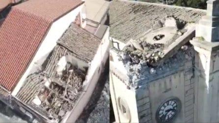 Terremoto Catania, ricognizione con i droni: le conseguenze del sisma
