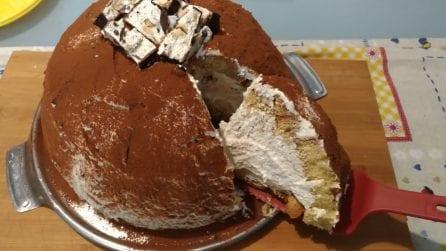 Zuccotto di pandoro con crema al torrone: una vera delizia per il palato