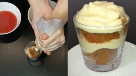 Pandoro al bicchiere: il dessert monoporzione da acquolina in bocca