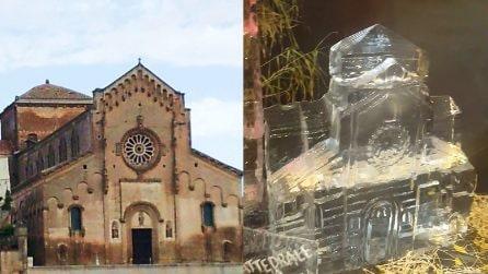 Matera di ghiaccio: le bellissime sculture esposte nella città dei Sassi