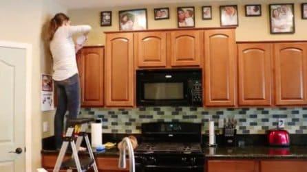 Marito e moglie smontano la cucina e la trasformano: la ristrutturazione sensazionale