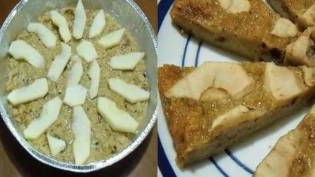 Torta di mele con il panettone avanzato: pronta in pochi minuti e buonissima