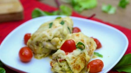 Chicken Pesto Roll Ups: 4 ingredients dinner idea!