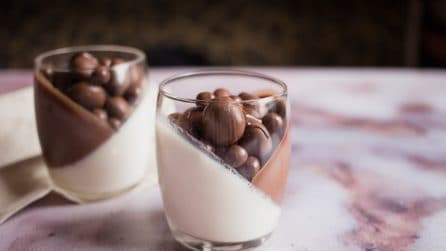 Panna cotta vanilla and chocolate: you will love this dessert!