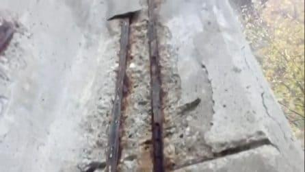 Le inquietanti condizioni del viadotto Puleto sulla E45
