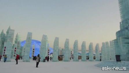 La magia del Festival internazionale delle sculture di ghiaccio